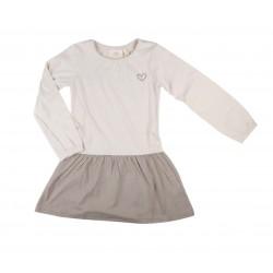 Robe jersey - fille - beige