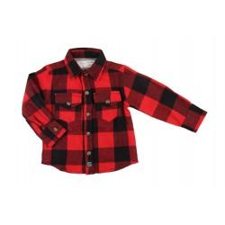 Chemise flanelle 100% coton - garçon - rouge