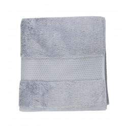 Serviette uni éponge 600g/m² 50x100 cm gris
