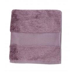 Serviette uni éponge 600g/m² 50x100 cm violet