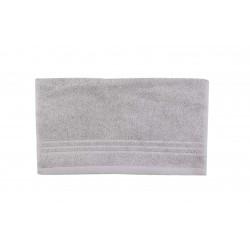 Serviette uni éponge 565g/m² 30x50 cm gris