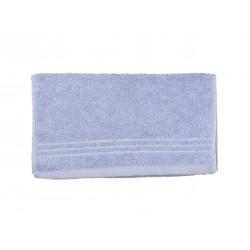 Serviette uni éponge 565g/m² 30x50 cm bleu