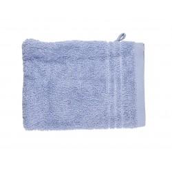 Gant de toilette uni éponge 565g/m² 16x21 cm bleu
