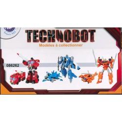 Robot transformable en hélicoptère - enfant - orange