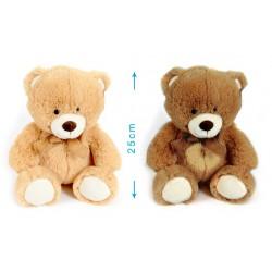 Peluche nounours 35 cm debout - marron - bébé