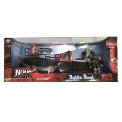 Ninja bateau de combat - enfant - rouge et noir