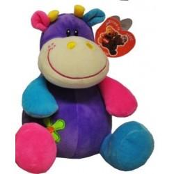 Peluche coloré hippopotame - bébé fille - violet