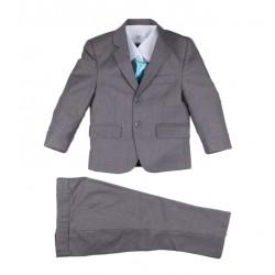 Costume 5 pièces cérémonie garçon gris