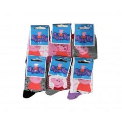Peppa Pig - lot de 6 paires de chaussettes aléatoire - fille