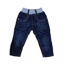 Jean taille élastique intérieur polaire - enfant mixte - bleu