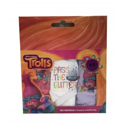 Trolls - lot de 3 culottes - 100% coton - fille