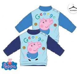 Peppa Pig - tee shirt manche longue - 100% coton - bleu