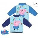 Peppa Pig - tee shirt manche longue - 100% coton - bleu marine