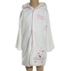 Charmmy Kitty - peignoir 100% coton - blanc - bébé fille