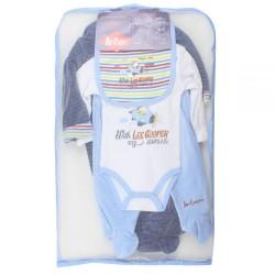 Lee cooper - parure de naissance 6 pièces - bébé garçon - bleu
