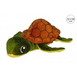 Peluche tortue vert à carapace - vert - naissance - 25cm