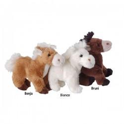 Bukowski - porte clé cheval 10 cm - blanc - enfant