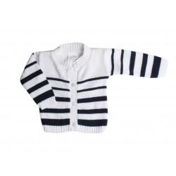 Gillet mariniere coton - blanc - bébé mixte