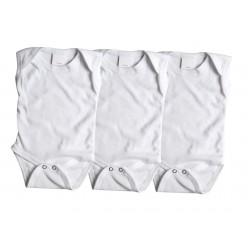 Lot de 3 bodies débardeur 100% coton - blanc - bébé mixte