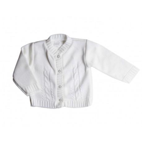 Gilet tricot - blanc - bébé mixte