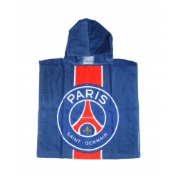 Poncho Paris Saint- Germain 100% coton - enfant mixte - bleu