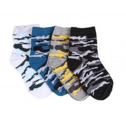 Lot de six paires de chaussettes motif militaire - coloris aléatoire - garçon