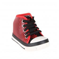 Baskets rayées - rouge - bébé mixte