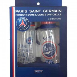 Un lot de 2 biberons Paris Saint Germain - bébé mixte