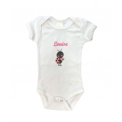 Body coton à personnaliser - bébé fille
