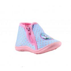 Babygros chaussons à zip - bébé fille - bleu