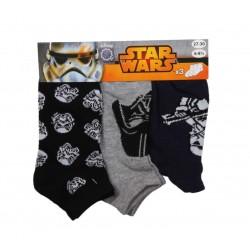 Lot de 3 paires de chaussettes star wars enfant