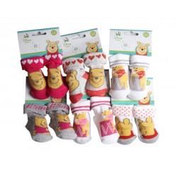 Lot de trois paires de chaussettes Winnie l'ourson - bébé fille - modèle aléatoire