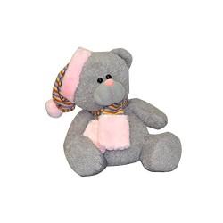 Peluche ours avec bonnet rose