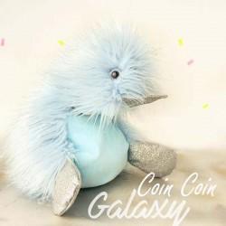 Coin Coin Peluche Canard Galaxy 30 cm - Bleu ciel
