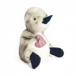 Coin Coin Peluche Canard Je t'aime 30 cm - Beige