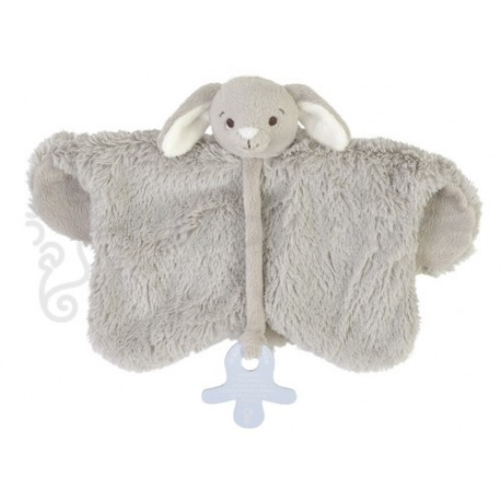 Happy Horse Doudou attache sucette Lapin Rockey 30 cm - Gris
