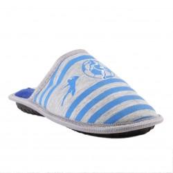 Chaussons à motifs imprimés - bleu - enfant mixte