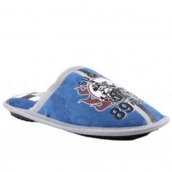 Chaussons à motif moto - bleu - garçon