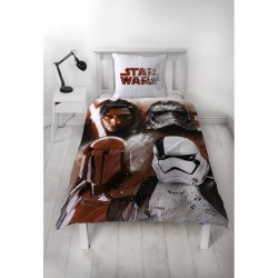 Housse de couette + taie flanelle star wars