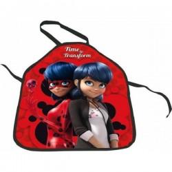 Tablier enfant Miraculous Ladybug peinture cuisine jeu deguisement enfant 3 à 8 ans