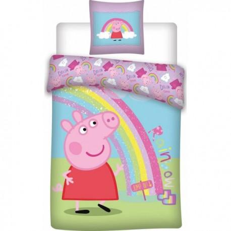 Parure housse de couette Peppa Pig
