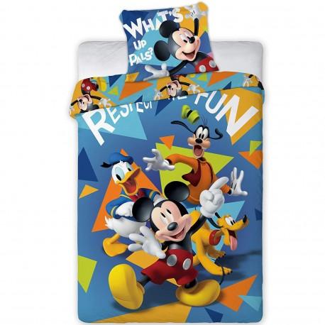 Parure housse de couette enfant Mickey et Donald Duck