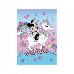 Plaid Polaire Minnie avec Licorne Disney