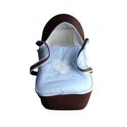 Couffin/nacelle bébé - Marron et bleu