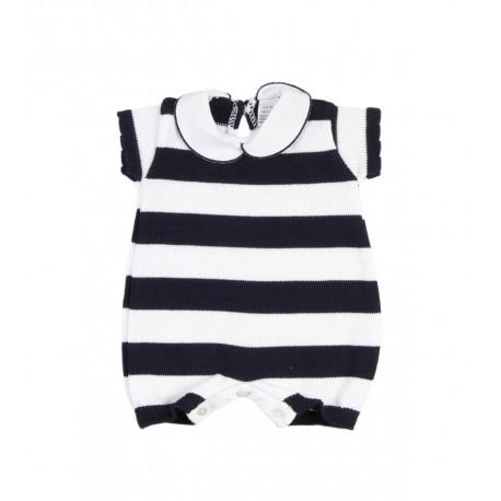 Combinaison bébé garçon motif marinière