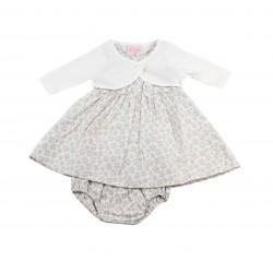 Ensemble bébé fille - robe, boléro et bloomer