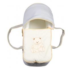 Couffin/nacelle bébé - Gris et beige