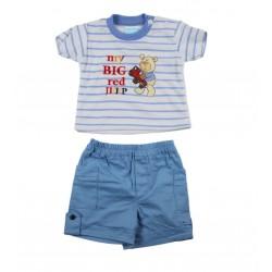 Ensemble bébé garçon 2 pièces - tee shirt et short blanc