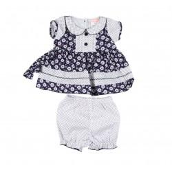 Ensemble bébé fille 3 pièces - robe , bloomer et bandeau