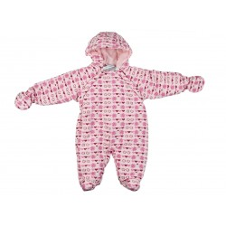 Combinaison motifs cœur et pomme - bébé fille - rose